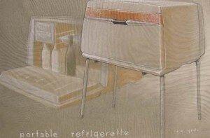 CMU Design program: A Refrigerator Concept by Carroll Gantz (1953)
