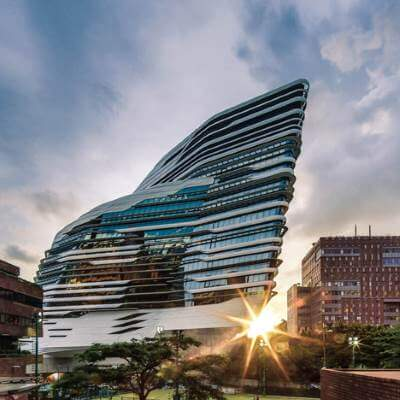 Hong Kong Polytechnic University : Architect Zaha Hadid